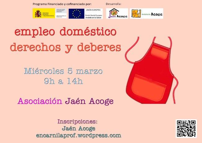 SESIÓN INFORMATIVA DERECHOS Y DEBERES EMPLEO DOMÉSTICO JAÉN ACOGE 5 Marzo 2014