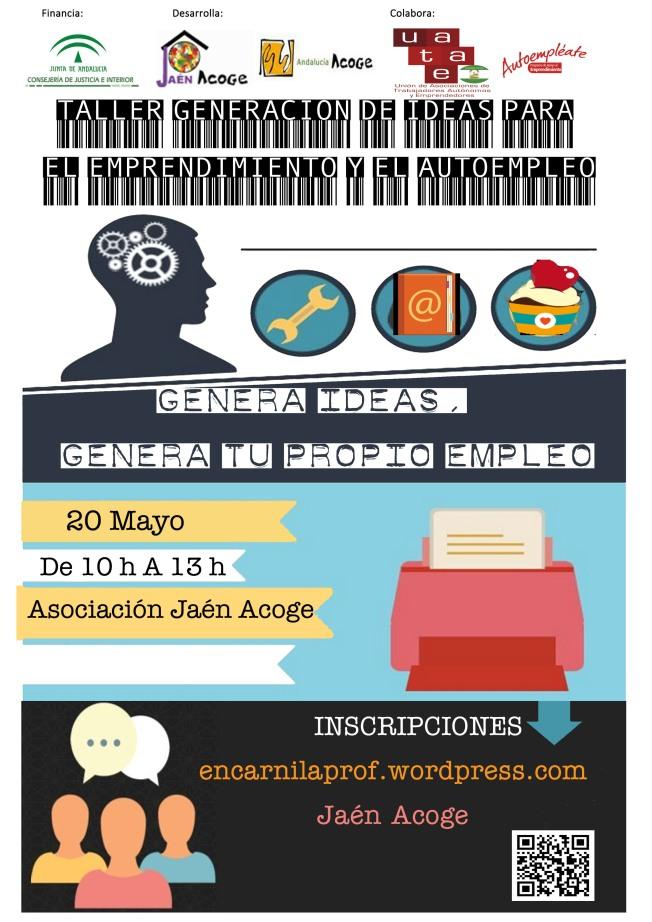 Taller de Generación de Ideas para el emprendimiento y el autoempleo Jaén Acoge Mayo
